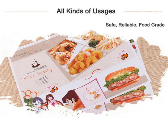 18 - 50gsm 100% FDA Approved Oil proof PE Coating Burger Wrapping Paper